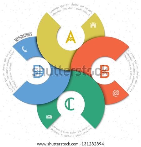 Creative round design template for infographics and website templates or design graphic for business. Vector EPS10 - stock vector
