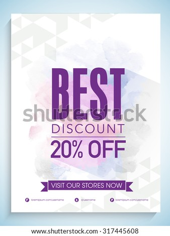 Creative Sale flyer, template or banner design with best discount offer. - stock vector