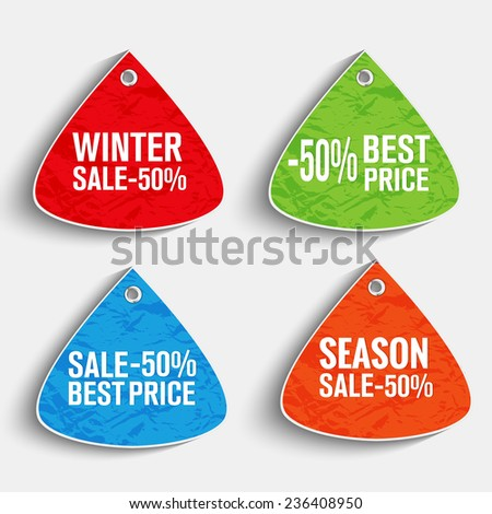 Creative Sales tags for sales offer - stock vector