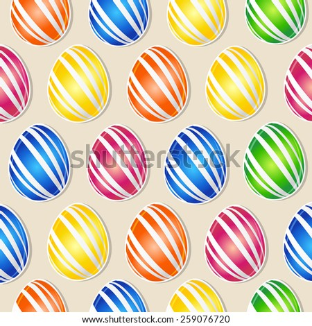 Creative Seamless Design or Abstract for multicoloured Egg for Easter. - stock vector