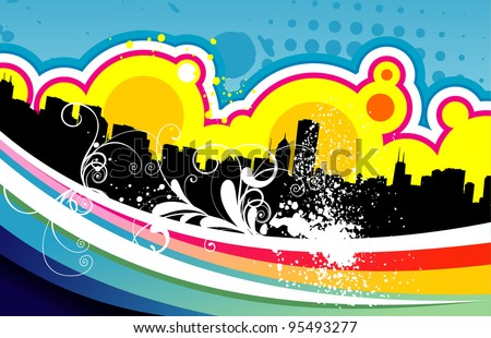 creative skyline vector