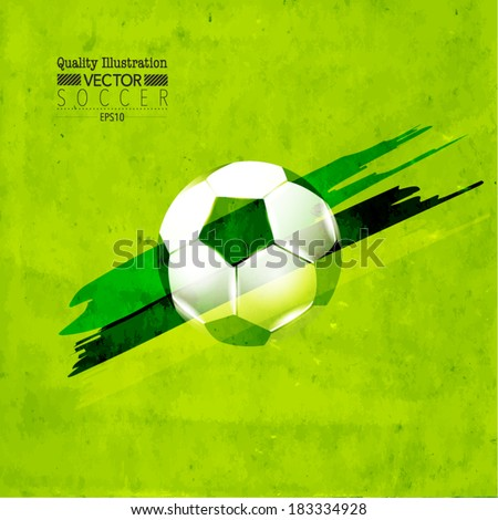 Creative Soccer Vector Design - stock vector