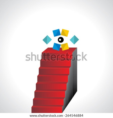 creative stairs concept vision idea  - stock vector
