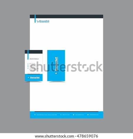 Creative stationary letterhead business card design stock vector creative stationary letterhead and business card design reheart Images