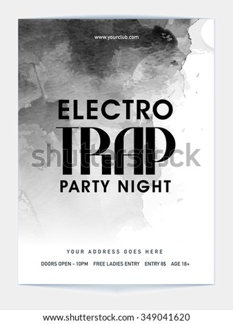 Creative Template, Banner or Flyer design for Night Party celebration. - stock vector