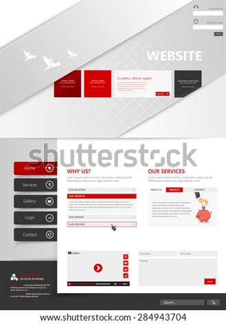 Creative Template for website, eps10 vector  - stock vector