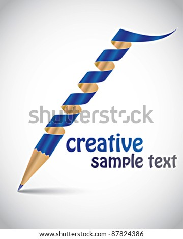 creative template with pencil