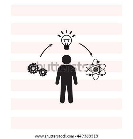 creative thinking icon - stock vector