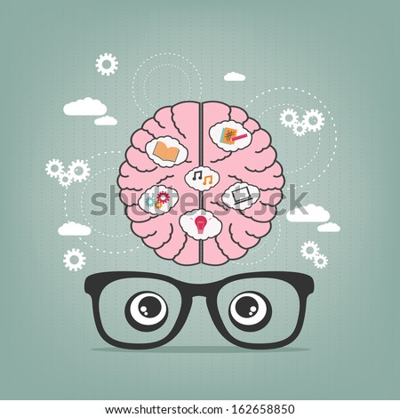 creative thoughts - stock vector