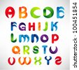 creative three dimensional alphabet set - stock photo