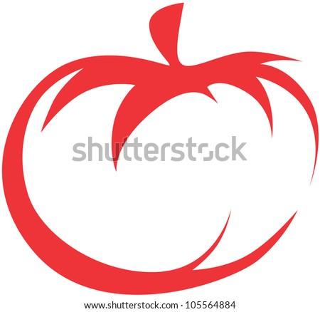 Creative Tomato Illustration - stock vector