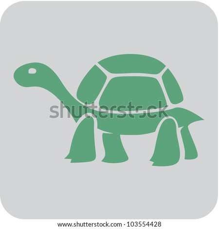 Creative Tortoise Icon - stock vector