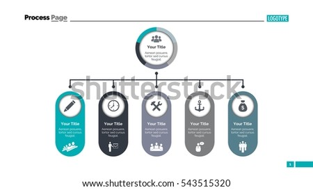 Creative Tree Diagram Slide Template Stock Vector 519631336
