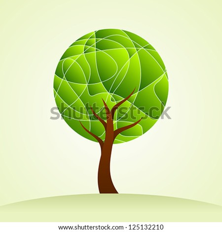 creative trees with environment - stock vector