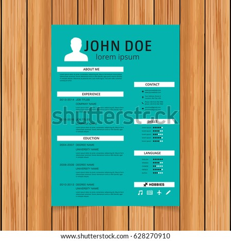 resume template colorful free color theme templates download stock vector creative turquoise green white
