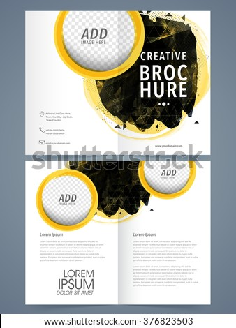 Creative Two Page Brochure Template Flyer Stock Vector 376823503