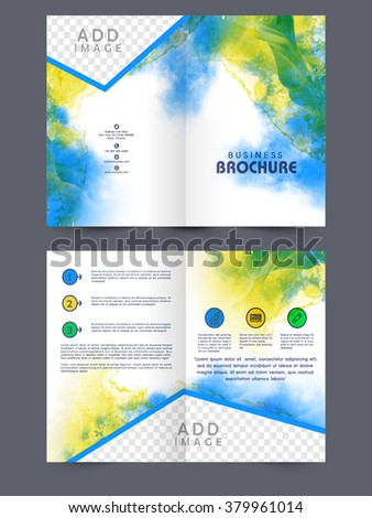 Stock images royalty free images vectors shutterstock for Two page brochure template
