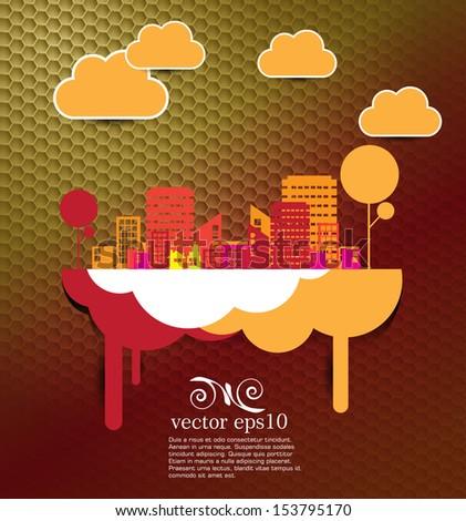 Creative urban landscape - stock vector