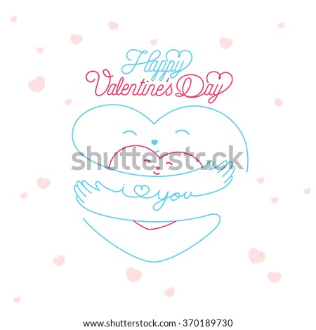 Creative Valentine's Day Background With Hearts - stock vector