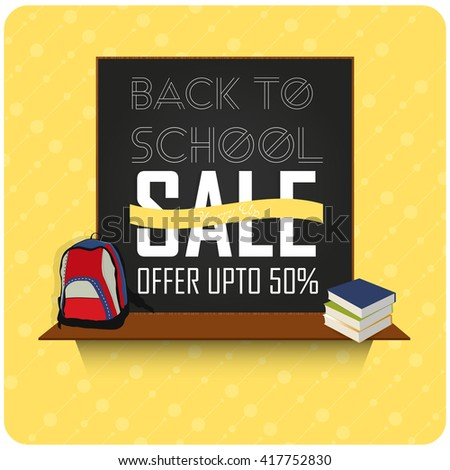 creative vector abstract for Back to School Sale with nice and creative illustration in a background. - stock vector