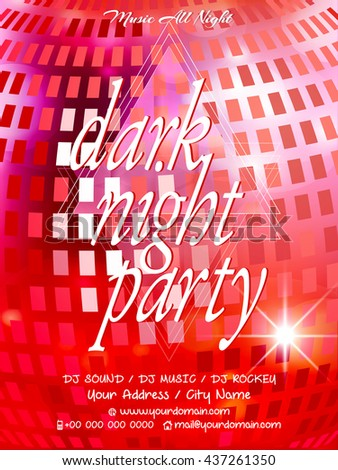 creative vector abstract for Dark Night Party or Party Flyers with nice and creative illustration in a background.