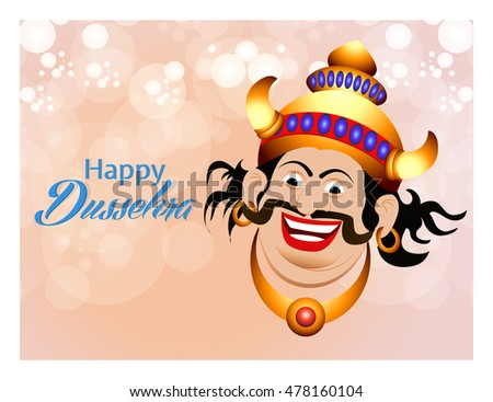 creative vector abstract for Happy Dussehra with nice and beautiful design illustration in a background.