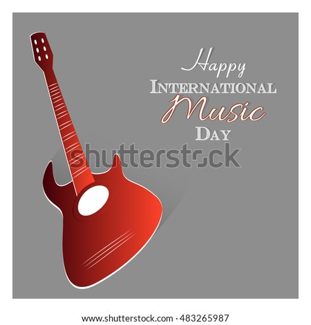 creative vector abstract for International Music Day with nice and creative design illustration.