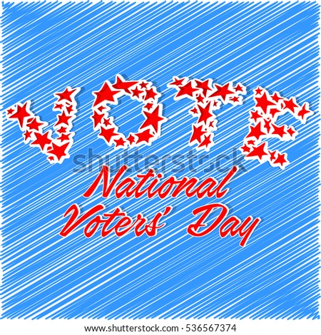 creative vector abstract for National Voter's Day or 25th January in India with creative background.