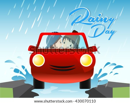 creative vector abstract for Rainy Day with nice and beautiful vector illustration in a creative background.