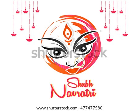 creative vector abstract for Shubh Navratri or Durga Puja with nice and beautiful design illustrtaion in a background.