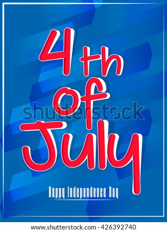 creative vector abstract for 4th of July Independence Day of USA with nice and creative illustration in a textured blue background.