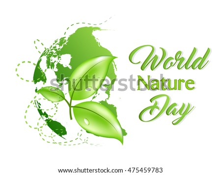 creative vector abstract for World Nature Day with nice and beautiful design illustration in a background.