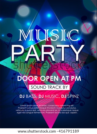 Creative Vector Abstract Or Flyer For Music Party With Nice And Creative  Illustration In A Textured