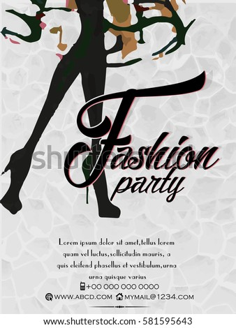 Creative vector design illustration fashion party stock vector creative vector design illustration for fashion party vector flyer for fashion party invitation template stopboris Image collections