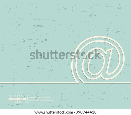 Creative Vector E Mail Art Illustration Template Background For Presentation Layout
