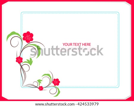 creative vector floral frames nice creative stock vector 424533979