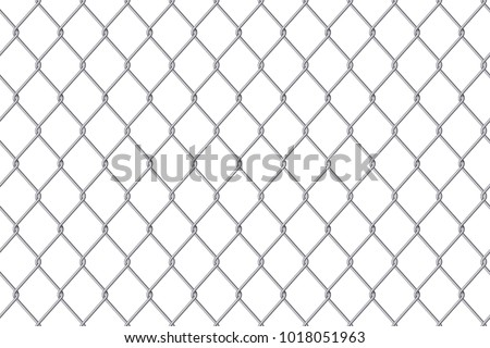 Creative vector illustration of chain link fence wire mesh steel metal isolated on transparent background. Art design gate made. Prison barrier, secured property. Abstract concept graphic element