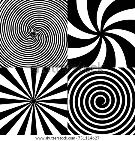 Creative vector illustration of hypnotic psychedelic spiral. Art design radial rays, twirl, twisted, sunburst, vortex. Abstract concept graphic element. Comic effect.