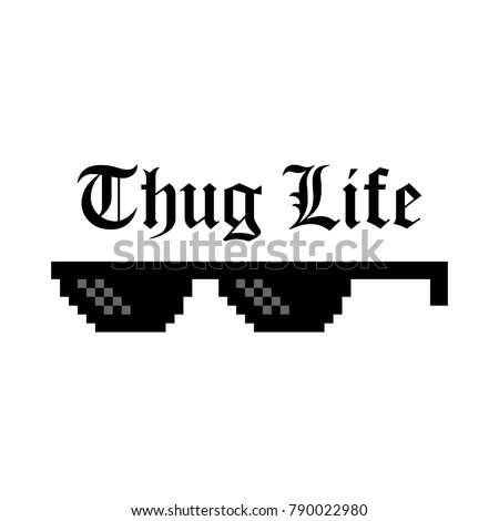 Thug stock images royalty free images vectors shutterstock creative vector illustration of pixel glasses of thug life meme isolated on transparent background ghetto voltagebd Images