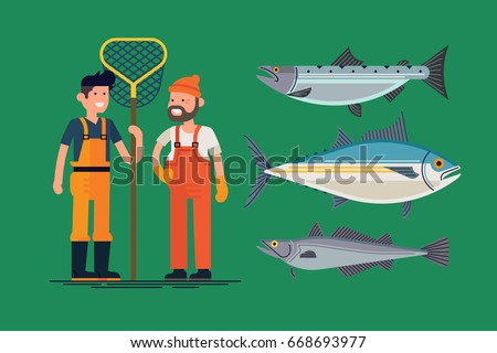 Tuna fisherman stock images royalty free images vectors for Commercial fishing boots
