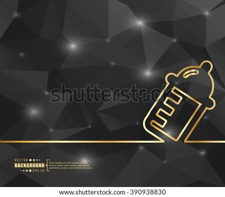 Creative vector nursing bottle. Art illustration template background. For presentation, layout, brochure, logo, page, print, banner, poster, booklet, business infographic, wallpaper, sign, flyer. - stock vector