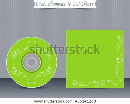 creative vector template for CD and DVD COVER with nice and beautiful design illustration in a background.
