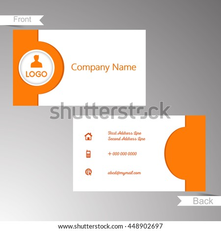 creative vector templates of business cards with nice and creative design in a background.
