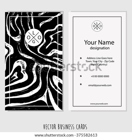 Creative vertical business card, name card or visiting card set with space for your image and company informations.