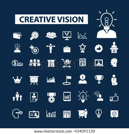 creative vision icons  - stock vector