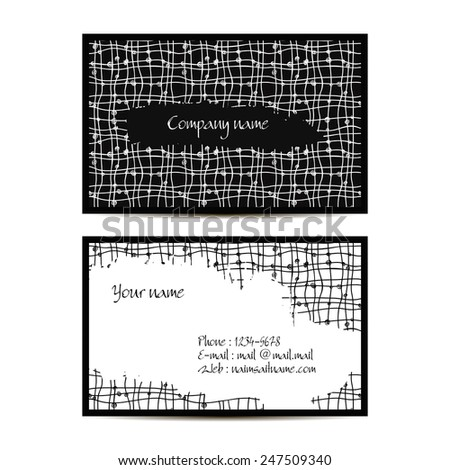 creative visit card with pattern and space for text