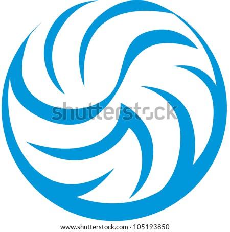 Creative Volleyball Illustration - stock vector