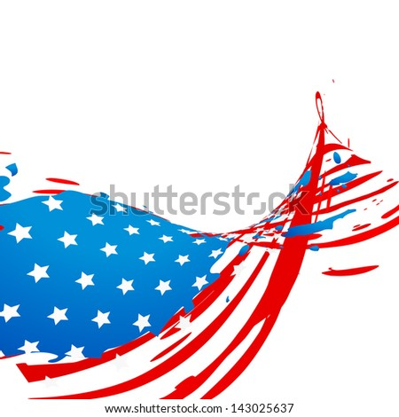 creative wave style american flag design
