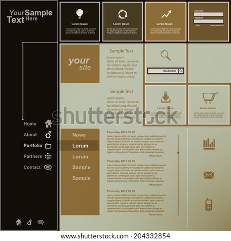 Creative web design, vector - stock vector