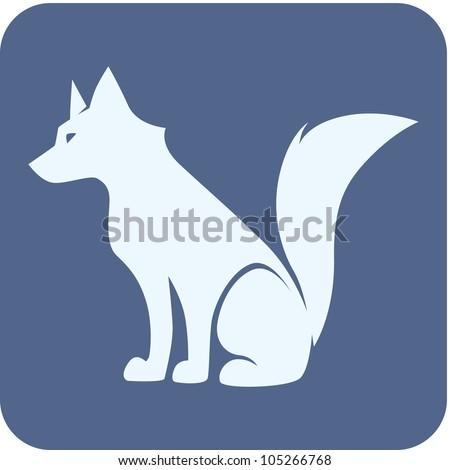 Creative Wolf Illustration - stock vector